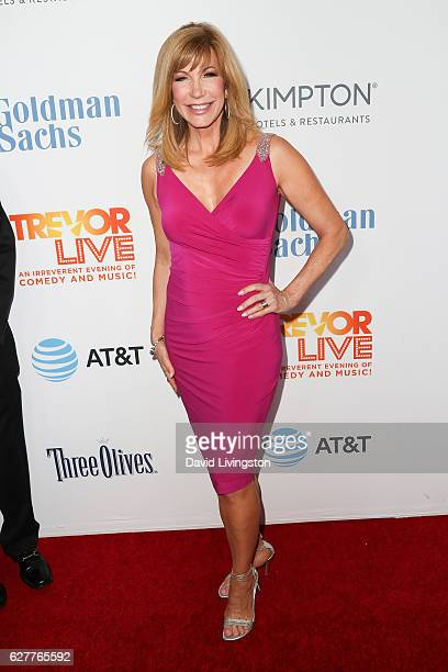 Host Leeza Gibbons arrives at the TrevorLIVE Los Angeles 2016 Fundraiser at The Beverly Hilton Hotel on December 4 2016 in Beverly Hills California