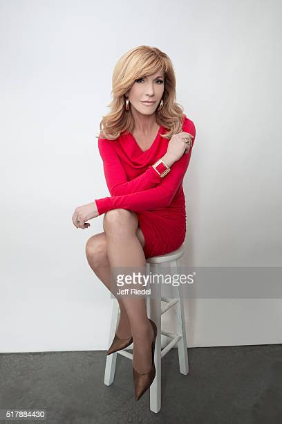 TV host Leeza Gibbons is photographed for TV Guide Magazine on January 16 2015 in Pasadena California