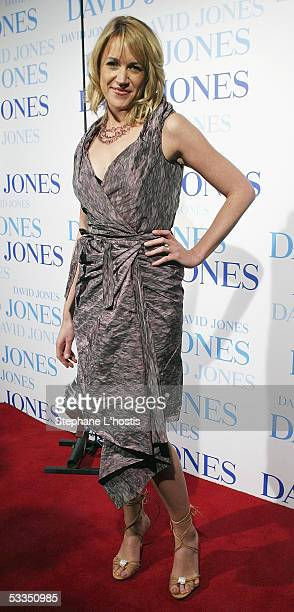 Host Leila McKinnon attends the David Jones summer 2005 collections launch at the W Hotel on August 10 2005 in Sydney Australia