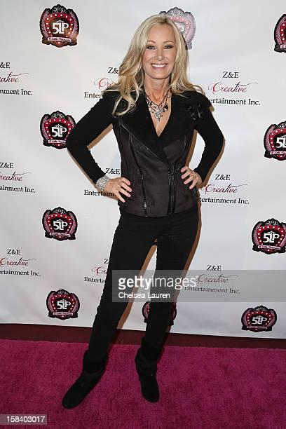 Host Leslie Birkland arrives at the 5 Little Princesses music showcase at Studio Instrument Rentals Inc on December 15 2012 in Los Angeles California
