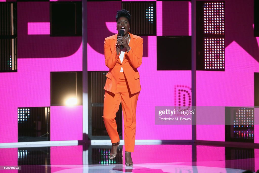 Host Leslie Jones speaks onstage at 2017 BET Awards at Microsoft Theater on June 25, 2017 in Los Angeles, California.