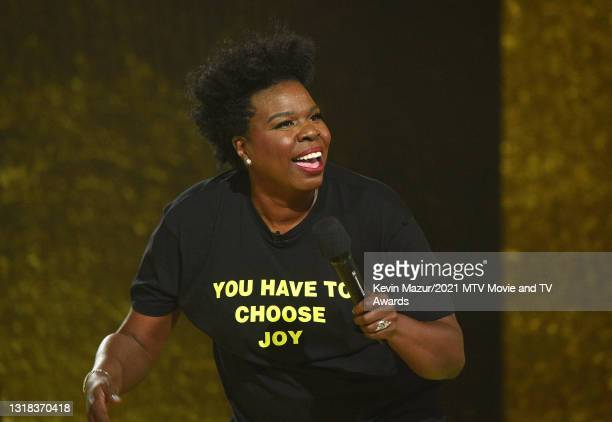 Host Leslie Jones speaks onstage during the 2021 MTV Movie & TV Awards at the Hollywood Palladium on May 16, 2021 in Los Angeles, California.