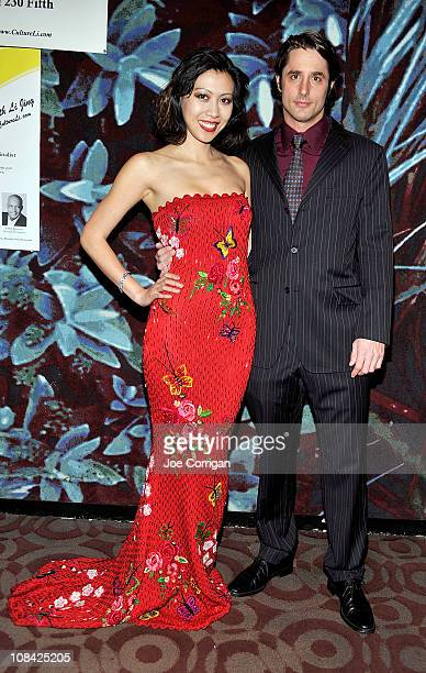 """Host Li Jing and Prince Lorenzo Borghese attend the """"Dare to Dream!"""" reception at 230 Fifth Avenue on January 26, 2011 in New York City."""