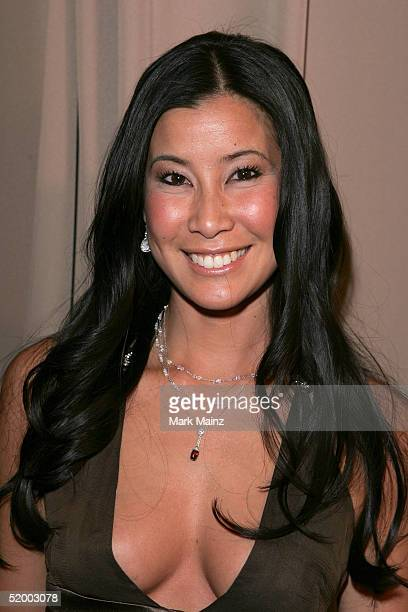 Host Lisa Ling arrives at the Miramax 2005 Golden Globes After Party at Trader Vics on January 16 2005 in Beverly Hills California