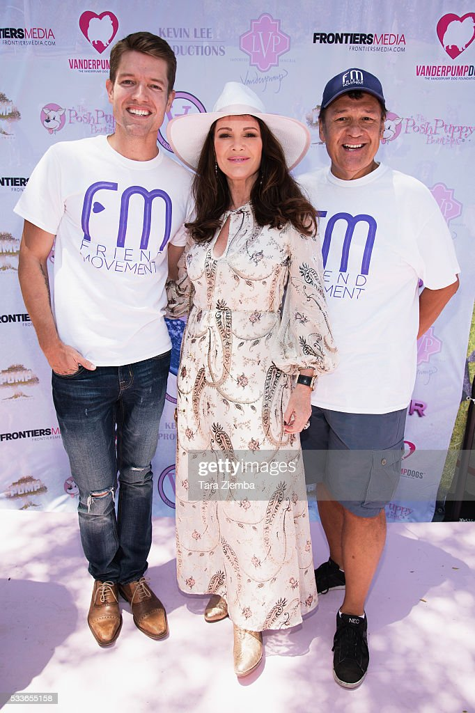 Host Lisa Vanderpump poses for a photo at World Dog Day Celebration at The City of West Hollywood Park on May 22, 2016 in West Hollywood, California.