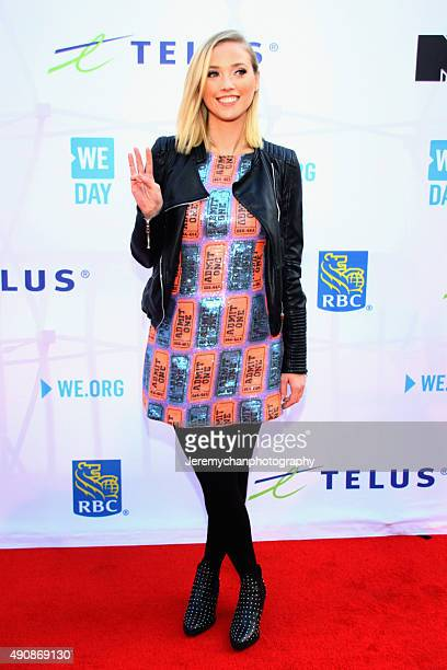 Host Liz Trinnear attends WE Day Toronto at the Air Canada Centre on October 1 2015 in Toronto Canada