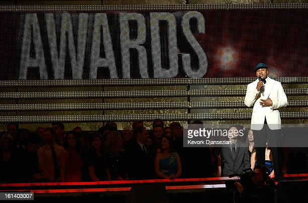 Host LL Cool J speaks onstage at the 55th Annual GRAMMY Awards at Staples Center on February 10 2013 in Los Angeles California