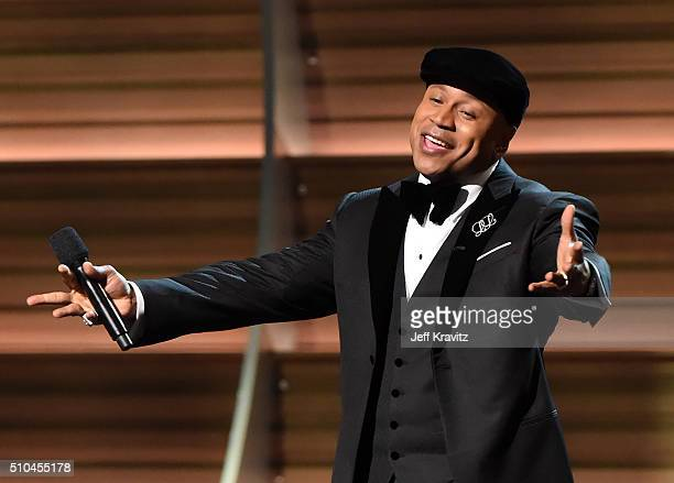 Host LL Cool J speaks onstage during The 58th GRAMMY Awards at Staples Center on February 15 2016 in Los Angeles California