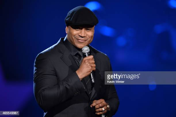 Host LL Cool J speaks onstage during The Night That Changed America A GRAMMY Salute To The Beatles at the Los Angeles Convention Center on January 27...