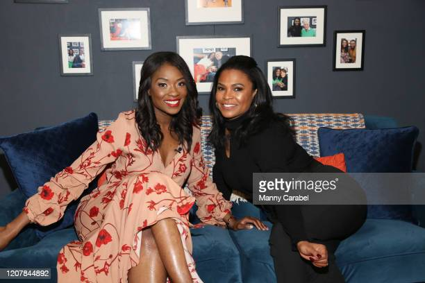 Host Lola Ogunnaike and Nia Long visit Couch Surfing at PeopleTV Studios on February 21 2020 in New York United States