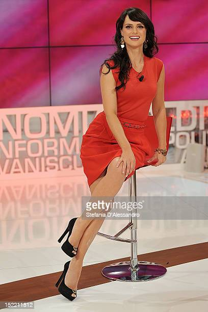 TV host Lorena Bianchetti attends 'Parliamone In Famiglia' Italian TV Show held at Rai Studios on September 17 2012 in Milan Italy