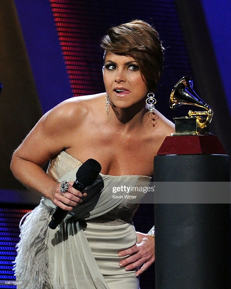 Host Lucero speaks onstage during the 11th annual Latin GRAMMY Awards at the Mandalay Bay Events Center on November 11, 2010 in Las Vegas, Nevada.