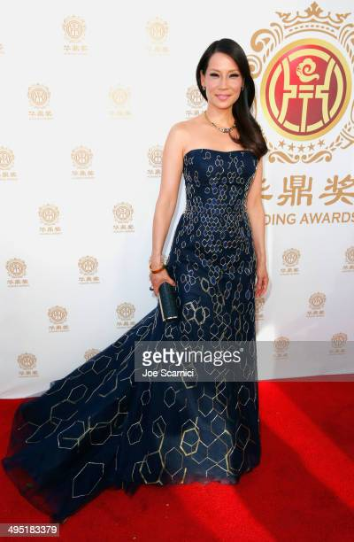 Host Lucy Liu attends the Huading Film Awards on June 1 2014 at Ricardo Montalban Theatre in Los Angeles California Huading Film Awards is China's...