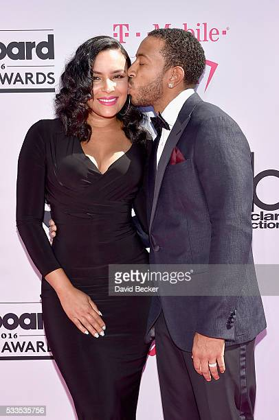 Host Ludacris and Eudoxie Mbouguiengue attend the 2016 Billboard Music Awards at TMobile Arena on May 22 2016 in Las Vegas Nevada