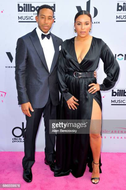 Host Ludacris and model Eudoxie Mbouguiengue arrive at 2017 Billboard Music Awards at TMobile Arena on May 21 2017 in Las Vegas Nevada