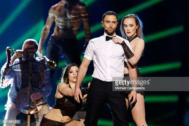 Host Mans Zelmerlow is seen at the Ericsson Globe on May 14 2016 in Stockholm Sweden