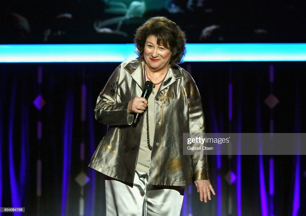 Host Margo Martindale speaks onstage at the 16th Annual AARP The Magazine's Movies For Grownups Awards at the Beverly Wilshire Four Seasons Hotel on February 6, 2017 in Beverly Hills, California.