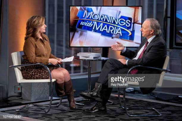 Host Maria Bartiromo with Bridgewater Associated founder Ray Dalio as he visits Mornings With Maria hosted by Maria Bartiromo at Fox Business Network...