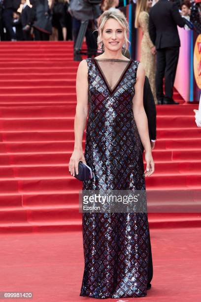 TV host Maria Kravtsova attends opening of the 39th Moscow International Film Festival outside the Karo 11 Oktyabr Cinema on June 22 2017 in Moscow...