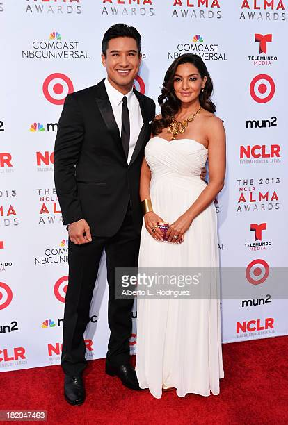 Host Mario Lopez and dancer Courtney Mazza arrive at the 2013 NCLR ALMA Awards at Pasadena Civic Auditorium on September 27 2013 in Pasadena...