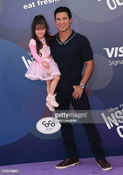 TV host Mario Lopez and daughter Gia Francesca Lopez attend the premiere of DisneyPixar's Inside Out at the El Capitan Theatre on June 8 2015 in...