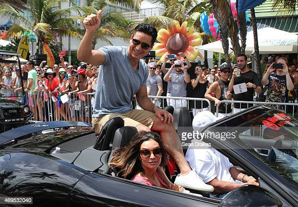 TV host Mario Lopez serves as Grand Marshal for the 7th annual Miami Beach Gay Pride Parade on April 12 2015 in in Miami Beach Florida USA