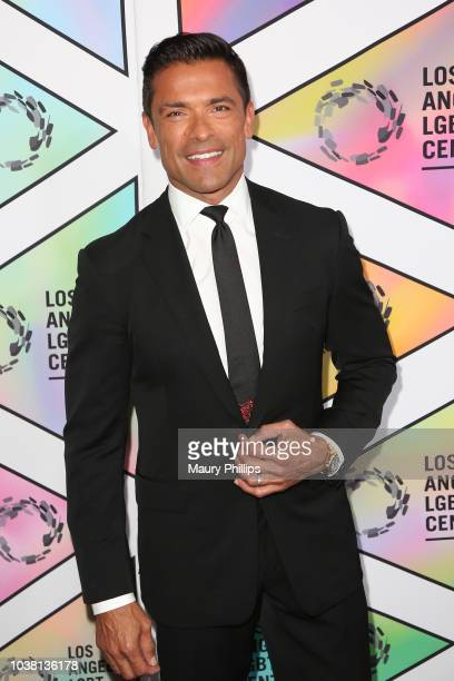Host Mark Consuelos arrives at the Los Angeles LGBT Center's 49th Anniversary Gala Vanguard Awards at The Beverly Hilton Hotel on September 22 2018...