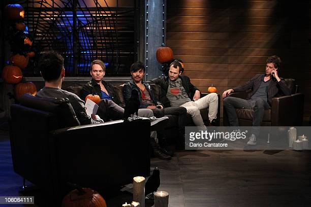 Host Mark Hoppus Luke White Eric Espiritu Philip Galitzine and Tobias Smith of Atomic Tom stop by Fuse's A Different Spin with Mark Hoppus airing...