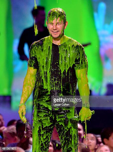 Host Mark Wahlberg speaks onstage during Nickelodeon's 27th Annual Kids' Choice Awards held at USC Galen Center on March 29 2014 in Los Angeles...