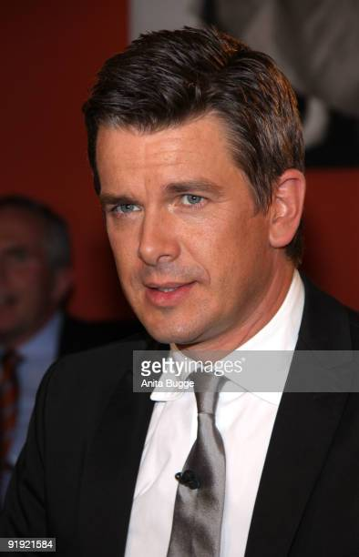 TV host Markus Lanz attends the taping of the birthday show for singer Thomas Quasthoff on October 15 2009 in Berlin Germany