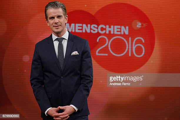 TV host Markus Lanz poses for a photograph during 'Menschen 2016' ZDF Jahresrueckblick on December 15 2016 in Hamburg Germany