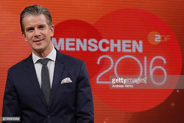 TV host Markus Lanz poses for a photograph during 'Menschen 2016' ZDF Jahresrueckblick on December 15 2016 in Hamburg Germany
