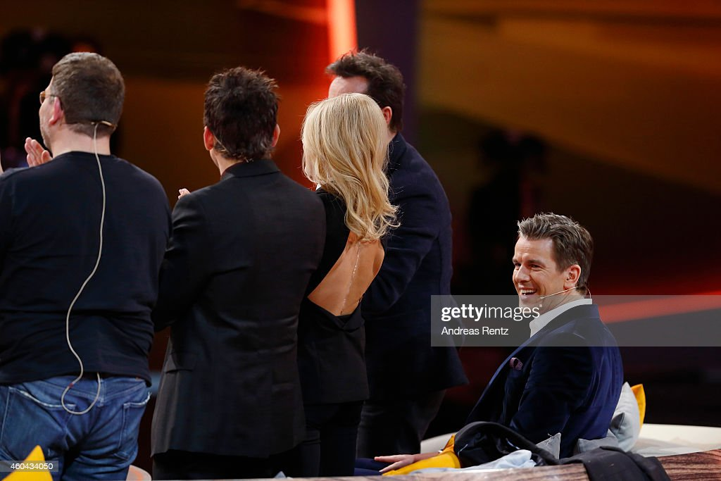 TV host Markus Lanz smiles during the last broadcast of the Wetten, dass..?? tv show on December 13, 2014 in Nuremberg, Germany..