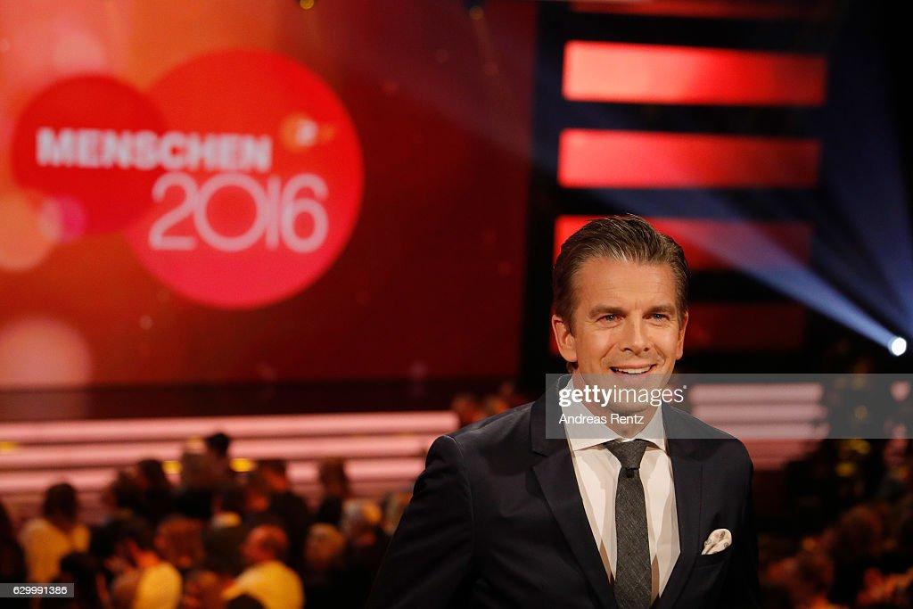 TV host Markus Lanz speaks during 'Menschen 2016' - ZDF Jahresrueckblick on December 15, 2016 in Hamburg, Germany.