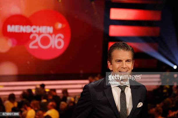 TV host Markus Lanz speaks during 'Menschen 2016' ZDF Jahresrueckblick on December 15 2016 in Hamburg Germany