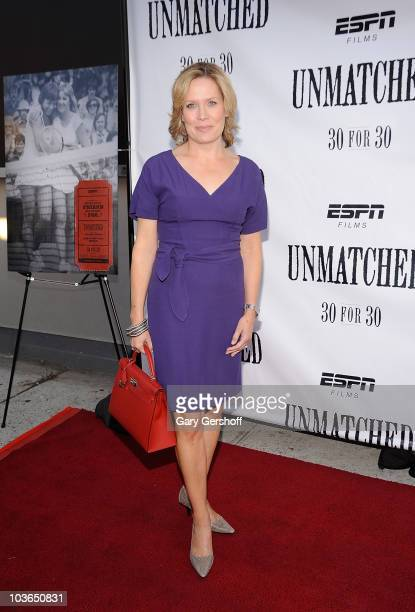 "Host Mary McKendry attends the premiere of ""Unmatched"" at Tribeca Cinemas on August 26, 2010 in New York City."