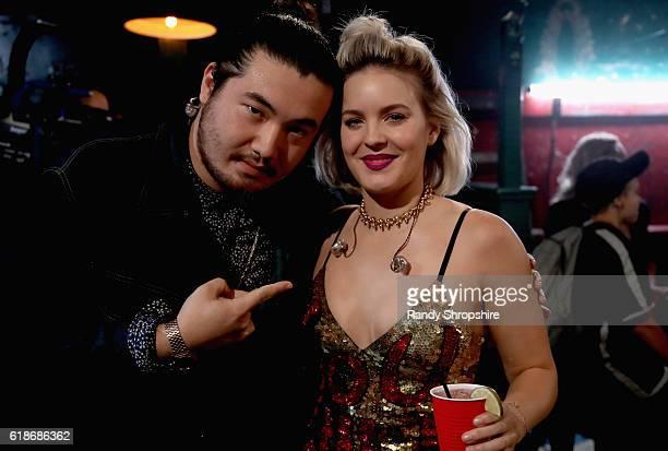 Host Matt FX and singersongwriter AnneMarie attend MTV's 'Wonderland' LIVE Show on October 27 2016 in Los Angeles California