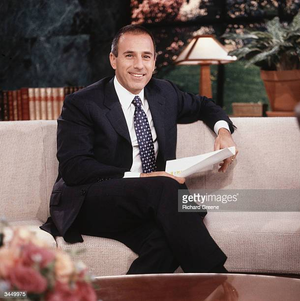 Host Matt Lauer poses for a portrait on the set of The Today Show September 26 2002 in New York City