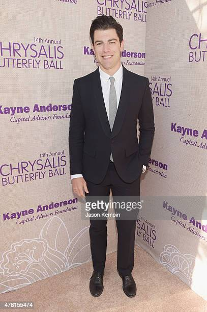 Host Max Greenfield attends the 14th annual Chrysalis Butterfly Ball sponsored by Audi Kayne Anderson Lauren B Beauty and Z Gallerie on June 6 2015...