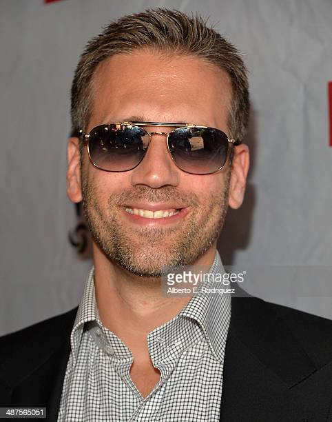 TV host Max Kellerman attends REVOLT and The National Cable and Telecommunications Association's Celebration of Cable at Belasco Theatre on April 30...