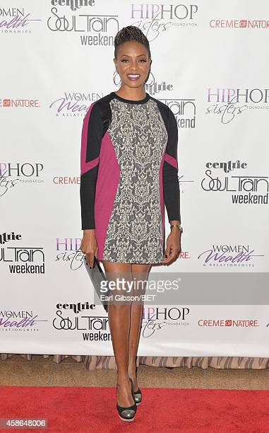 Host MC Lyte attends the 2014 Soul Train Music Awards Hip Hop Sisters Panel on November 8 2014 in Las Vegas Nevada