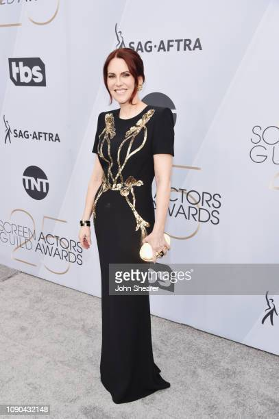 Host Megan Mullally attends the 25th Annual Screen ActorsGuild Awards at The Shrine Auditorium on January 27 2019 in Los Angeles California