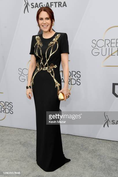 Host Megan Mullally attends the 25th Annual Screen ActorsGuild Awards at The Shrine Auditorium on January 27, 2019 in Los Angeles, California. 480568