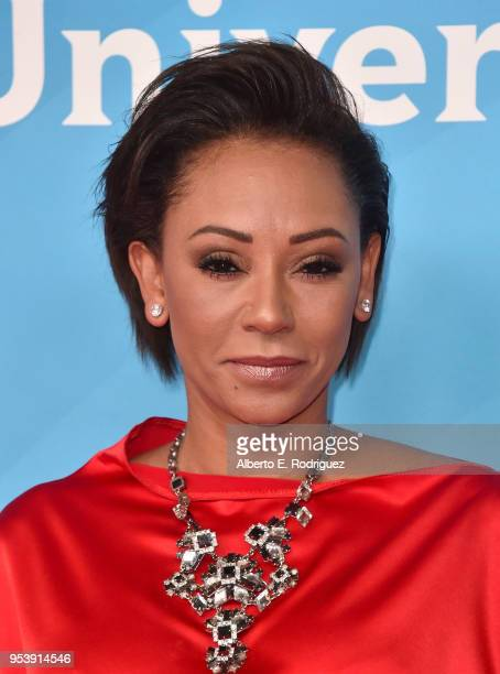 TV host Mel B attends NBCUniversal's Summer Press Day 2018 at The Universal Studios Backlot on May 2 2018 in Universal City California