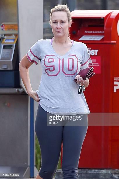 TV host Melissa Doyle is seen on February 17 2016 in Sydney Australia