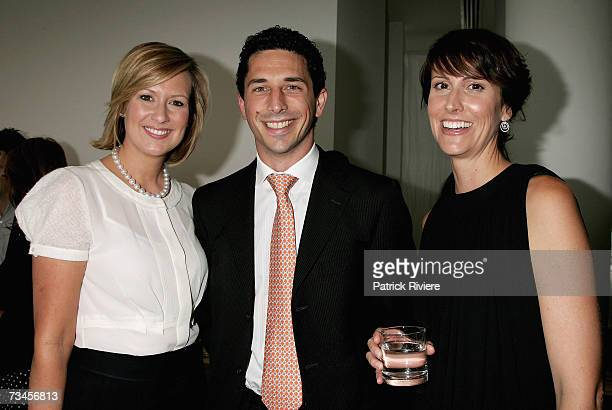 TV host Melissa Doyle with the Chairman of Pacific Publications Ryan Stokes and TV newsreader Natalie Barr attend the Myer Winter 07 fashion launch...