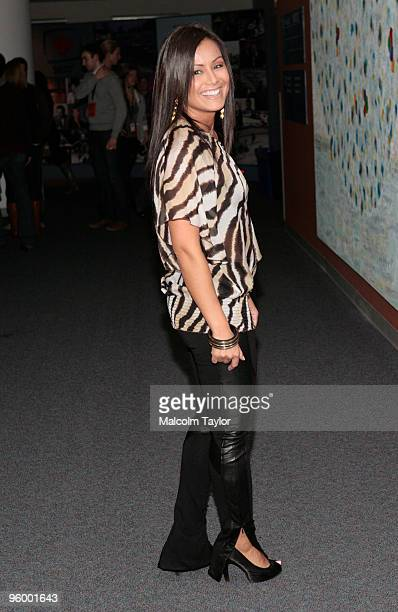 CP 24 host Melissa Grelo arrives at the Canada For Haiti Benefit on January 22 2010 in Toronto Canada