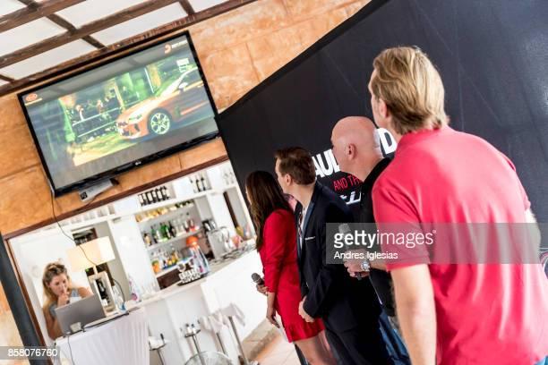 Host Melissa Khalaj DJ Paul Van Dyk Steffen Cost CEO Kia Germany Lars Dueysen VP Sony Music Brands Live Licensing attend as Paul Van Dyk X Kia...