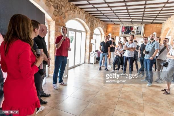 Host Melissa Khalaj DJ Paul Van Dyk Steffen Cost CEO Kia Germany Lars Dysen CEO Sony Music Brands Live Licensing attend as Paul Van Dyk X Kia present...