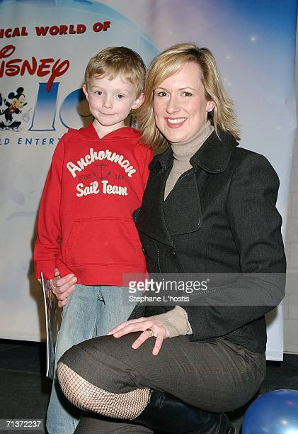 TV host Mellisa Doyle and her son Nicholas attend the Magical World of Disney On Ice opening night at the Sydney Entertainment Centre July 5 2006 in...